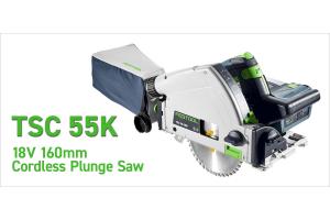 The Festool TSC 55K 18V 160mm Cordless Plunge Saw