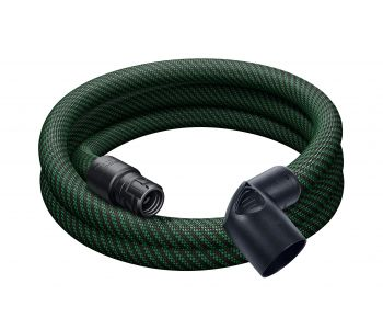 Anti Static Smooth Suction Hose D32/27mm x 3.5m with 90 Degree Angle Adaptor