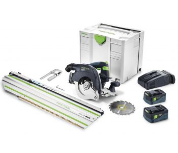 HKC 55 18V 160mm Cordless Circular Saw 5.2Ah Set in Systainer with 420mm Cross Cut Rail
