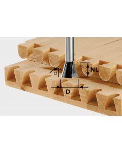Dovetail Cutter HS S8 D13.8/NL13.5/A15